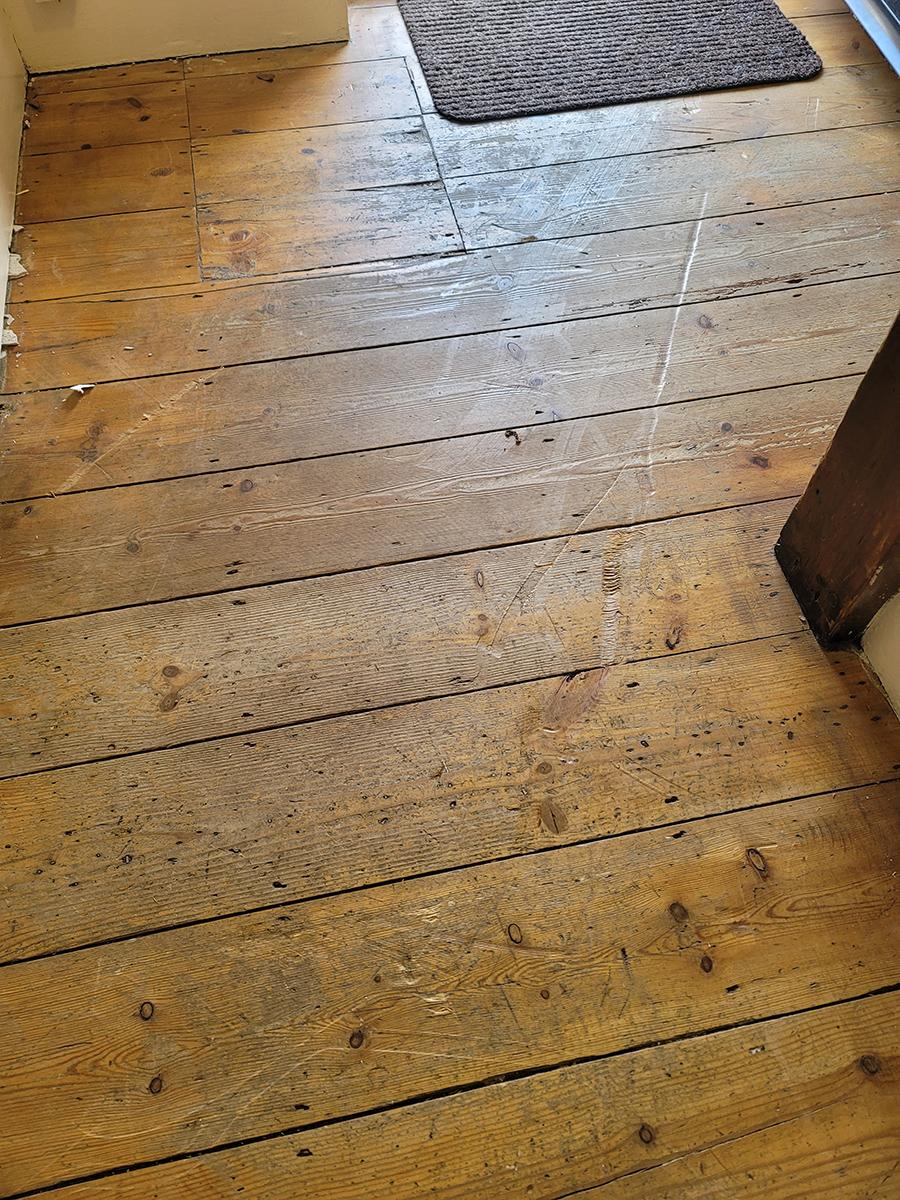 Damage to polished floor