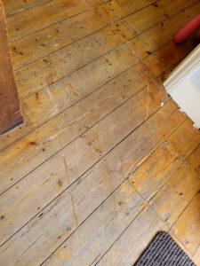 Floor damage after poor piano move